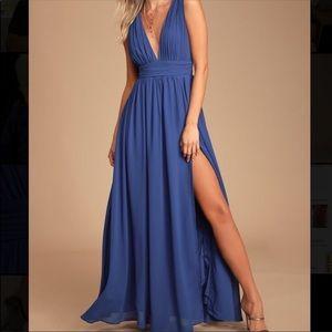 Heavenly hues bright blue dress